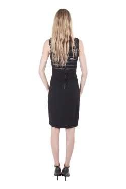 Jason Wu Black Jersey Sequin Embellished Sleeveless Sheath Dress S