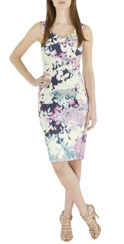 Erdem Multicolor Floral Print Cotton Blend Sleeveless Trina Sheath Dress S