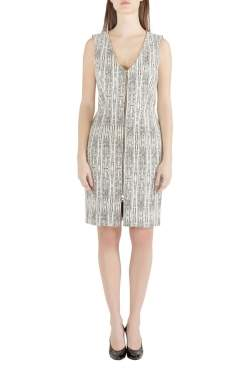L'Agence x Intermix Monochrome Abstract Eva Print Sleeveless Sheath Dress M