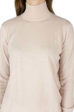 Dion Lee Pale Pink Wool Knit Draped Loop Back Skivvy Pullover M
