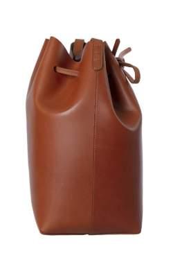 Mansur Gavriel Brandy Leather Bucket Bag