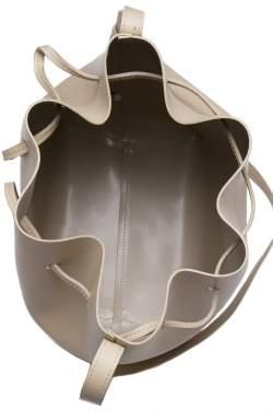 Mansur Gavriel Beige Leather Bucket Bag