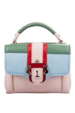 Paula Cademartori Multicolor Leather Dun Dun Top Handle Bag