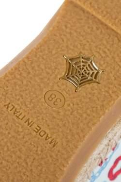 حذاء إسبادريل شارلوت أوليمبيا إسمي قماش مطبوع ثلاثي اللون مقاس 38