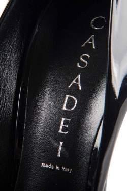 Casadei Black Patent Leather Pumps Size 37