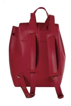 Mansur Gavriel Red Leather Mini Backpack