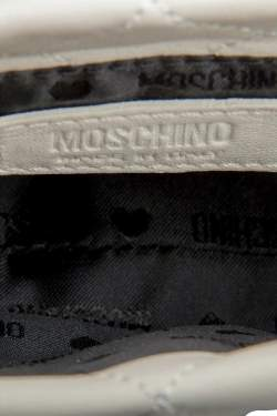 Moschino White/Black Leather Waist Belt Bag