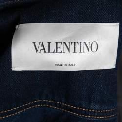 Valentino Navy Blue Denim Cropped Jacket S