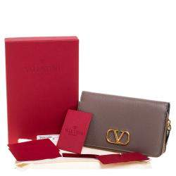 Valentino Clay Leather VLOGO Wallet