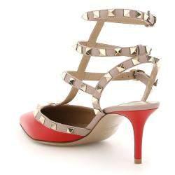 حذاء فالنتينو غارافاني روكستد أحمر مقاس EU 36