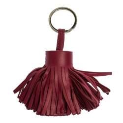 Hermes Ruby Lambskin Leather Carmen Tassel Keychain