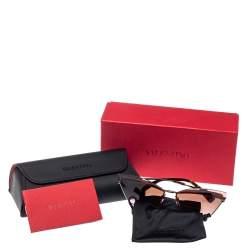 Valentino Gunmetal Tone/ Rose & Green Gradient VA 2029 Cateye Sunglasses