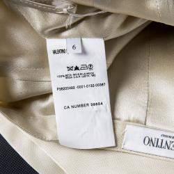 Valentino Beige Silk Pencil Skirt M