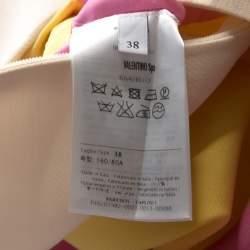 Valentino Colorblock Silk Wool Sleeveless A Line Dress S
