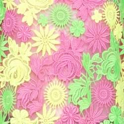 Valentino Multicolor Neon Floral Guipure Lace Top S