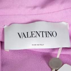 Valentino Lilac Silk Crepe Collared Maxi Dress M