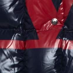 Valentino Navy Blue Synthetic VLOGO Signature Padded Hooded Jacket M
