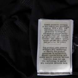 Valentino Black Cotton VLogo Sequence Embellished T-Shirt M