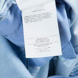 Valentino Blue Light Wash Denim Crossback Romper M