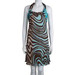 Valentino Multicolor Printed Silk Halter Dress M