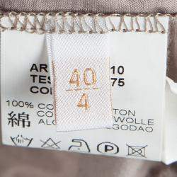 Valentino Beige Embellished Neck Detail Mesh Overlay Sleeveless Top S