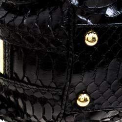 Valentino Black Python Satchel