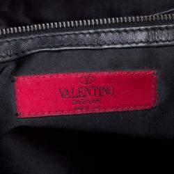 Valentino Black Sequin Small Petale Tote