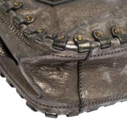 Valentino Metallic Leather Studded Satchel