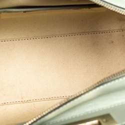 Valentino Mint Green Leather Mini Rockstud Trapeze Tote