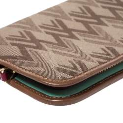 Valentino Tri Color Canvas and Leather Continental Wallet