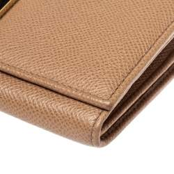 Valentino Beige Leather Flap Continental Wallet