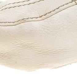 Valentino Ivory Leather V Ring Closure Mini Hobo