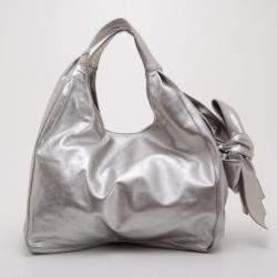 Valentino Silver Nuage Bow Tote