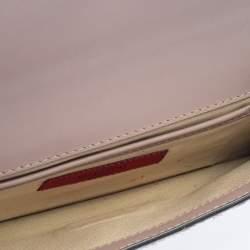 Valentino Brown Pony Hair Rockstud Flap Clutch Bag