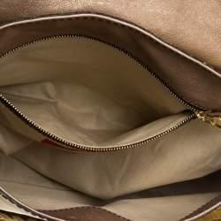 Valentino Metallic Gold Patent Leather Histoire Satchel