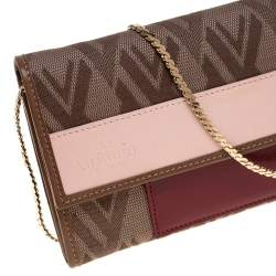 Valentino Multicolor Canvas and Leather Wallet on Chain