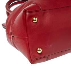 Valentino Dark Red Leather Bow Frame Satchel