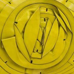 Valentino Fluorescent Yellow Leather Petale Shoulder Bag