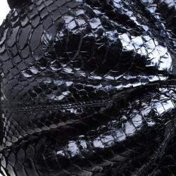 Valentino Black Python Hobo