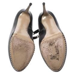 Valentino Black Leather Studded Platform Boots Size 38.5