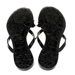 Valentino Black Jelly Rockstud Bow Flat Sandals Size 38