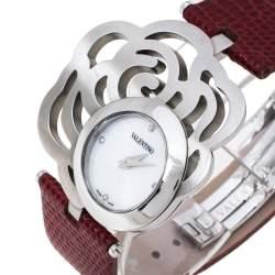 Valentino White Stainless Steel Rosier Baselworld V55 Women's Wristwatch 40 mm