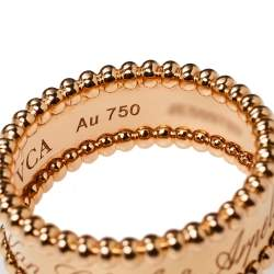 Van Cleef & Arpels Perlée Signature 18K Rose Gold Ring Size 54
