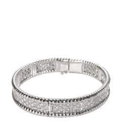 Van Cleef & Arpels Perlee 18K White Gold Diamond Bracelet
