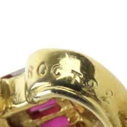 Van Cleef & Arpels 18K Yellow Gold Ruby Diamond Celestine Pendant Necklace