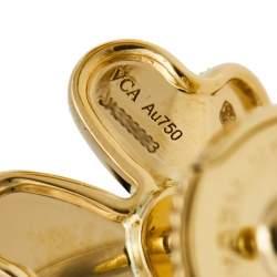 Van Cleef & Arpels Frivole Diamond 18K Yellow Gold Mini Model Stud Earrings