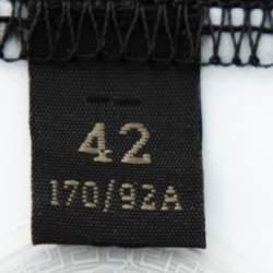 Versace Black Crystal GV Signature Embellished Cotton Crewneck T-Shirt M