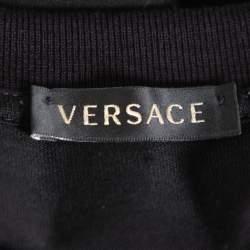 Versace Black Rhinestone Embellished Cotton Crewneck T-Shirt S