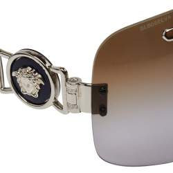 Versace Silver Tone/ Bicolor Gradient 2132 Shield Sunglasses