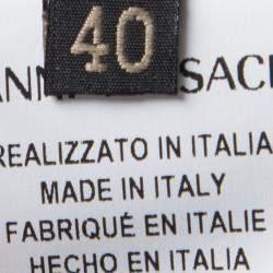 Versace Colorblock Ruffle Bottom Hem Detail Sleeveless Dress S